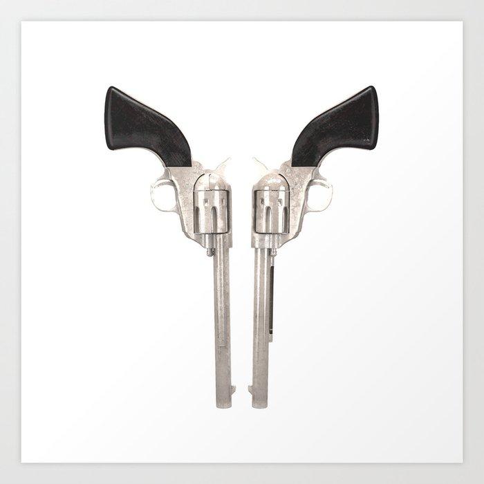 Double Sixshooters. Colt Art Print