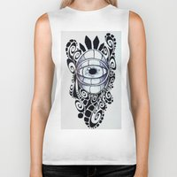 evil eye Biker Tanks featuring Evil Eye by King Catastropa