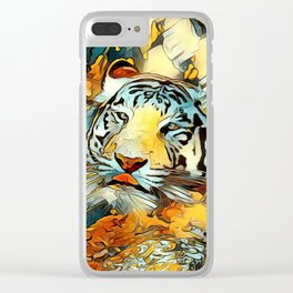 AnimalArt_Tiger_20170603_by_JAMColorsSpecial Clear iPhone Case