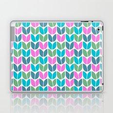 Tulip Knit (Teal Pink Blue Green) Laptop & iPad Skin