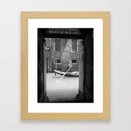 Gondola ride Framed Art Print