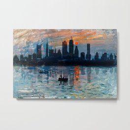 Boston Skyline 12 Metal Print