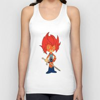 thundercats Tank Tops featuring Lion-o by Christophe Chiozzi