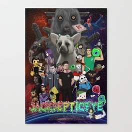 Super Duper Awesome JackSepticEye Poster Canvas Print