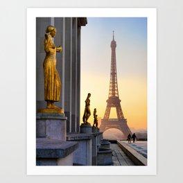 Sunrise in Paris France Art Print