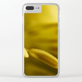 Flower Stamens Yellow Clear iPhone Case