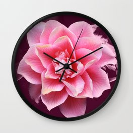 Pinkened flower Wall Clock