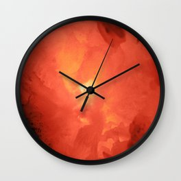Textures (Red version) Wall Clock