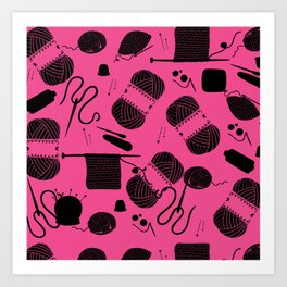 Yarn Pink Art Print