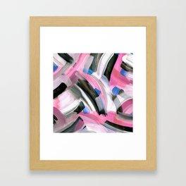Crossing Pink Framed Art Print