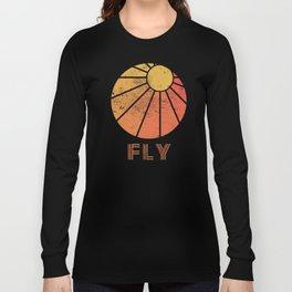 Retro Fly - Paragliding/Hang Gliding Long Sleeve T-shirt