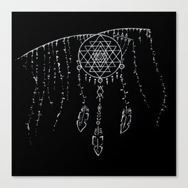 Shri Yantra / Dream Catcher Canvas Print