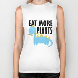 Dino kids vegetarian vegan school gift Biker Tank