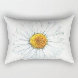 Watercolor Daisy Rectangular Pillow