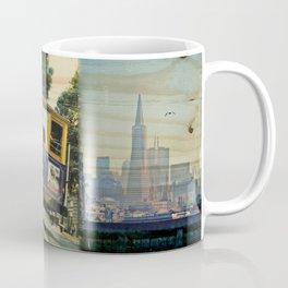 Sailor's View: Transamerica Pyramid, San Francisco, CA - Distressed Photo on Wood Coffee Mug
