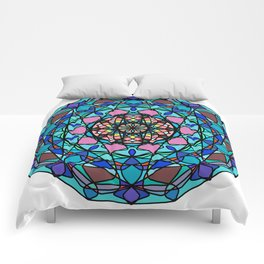 Round ornament in ethnic style Comforters