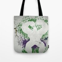 hulk Tote Bags featuring Hulk by NKlein Design