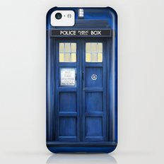blue box iPhone 5c Slim Case