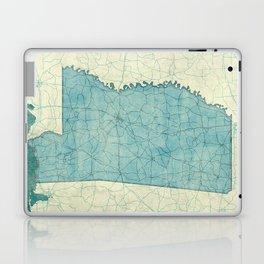 Mississippi State Map Blue Vintage Laptop & iPad Skin