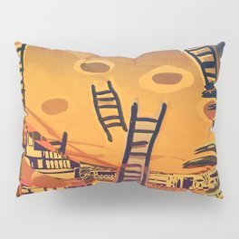 Time through Time, from Caves to Skyscraper, from Organic to Geometric Pillow Sham