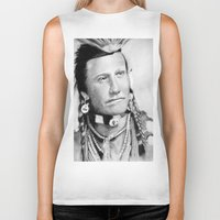 native american Biker Tanks featuring Native American by chomaee