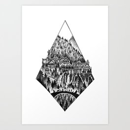The Last Homely House East of the Sea Art Print