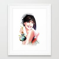 perfume Framed Art Prints featuring perfume by tatiana-teni
