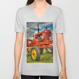 Red Tractor Unisex V-Neck