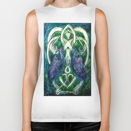 Celtic Peacocks Biker Tank