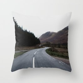 Road through the Glen Throw Pillow