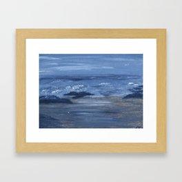 Monochromatice Seascape 4 Framed Art Print