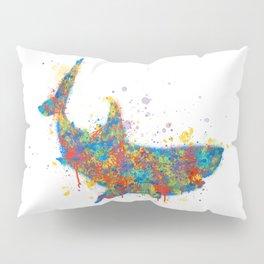 Splatter Paint Great White Shark Pillow Sham