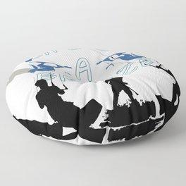 Life's A Breeze For Kitesurfers Floor Pillow