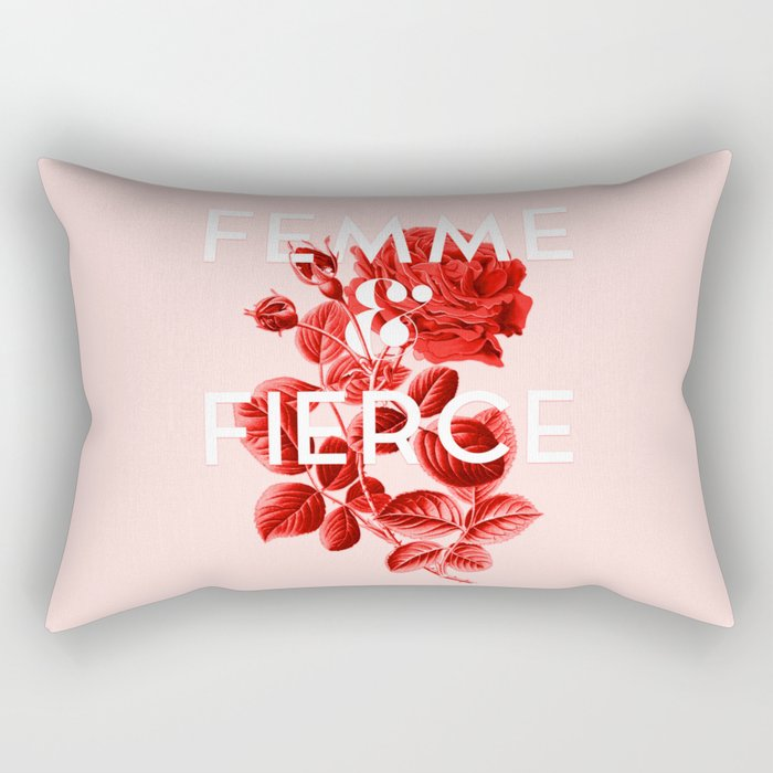Femme & Fierce Rectangular Pillow