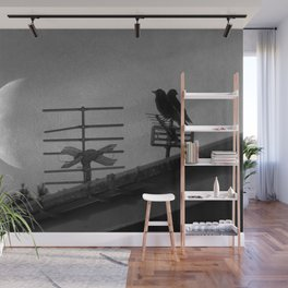 Nature love birds love you to the moon and back Wall Mural