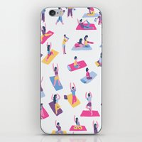 yoga iPhone & iPod Skins featuring Yoga by Sara Maese