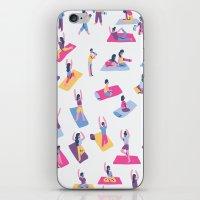 yoga iPhone & iPod Skins featuring Yoga by Sara Maese