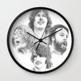 John, Paul, George & Ringo Wall Clock