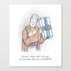 Obi-Wan Felt His Presents Canvas Print