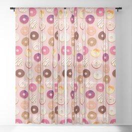 Weekend Donut Run Sheer Curtain