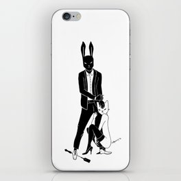Mr Bunny and Catpurrrs lady iPhone Skin
