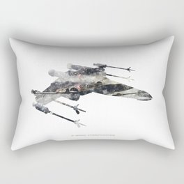 StarWars X-wing Starfighter - Wall Art, Poster, Print, Watercolor, Series 2 of 6. Rectangular Pillow