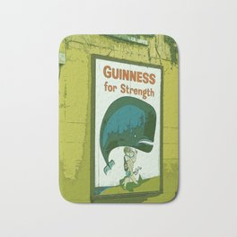 Guinness beer art print - 'Guinness for strength' vintage sign in green - vintage beer poster Bath Mat