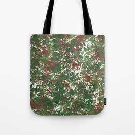 Green & Brown Camo Camouflage Hunting Invisible Military Tote Bag