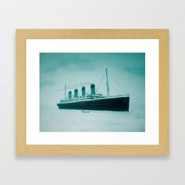 Titanic leaving Belfast 1912. By Joan Smart. Framed Art Print