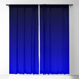 Midnight Black to blue ombre flame gradient Blackout Curtain