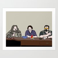 the big lebowski Art Prints featuring The Big Lebowski by Josh Ross Illustration