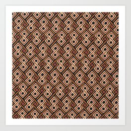 African Kuba Cloth Pattern Art Print