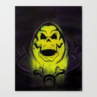 skeletor Canvas Prints featuring Skeletor by Barry Neeson