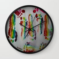 duvet cover Wall Clocks featuring FOOTSTEPS DUVET COVER DESIGN by aztosaha